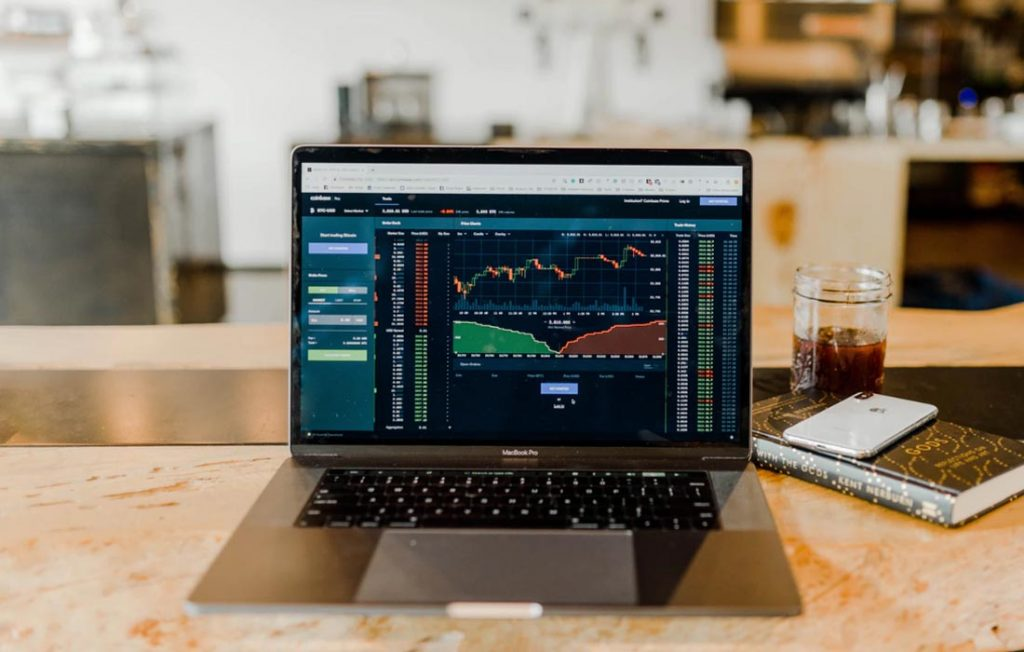 Macbook Pro trading stocks